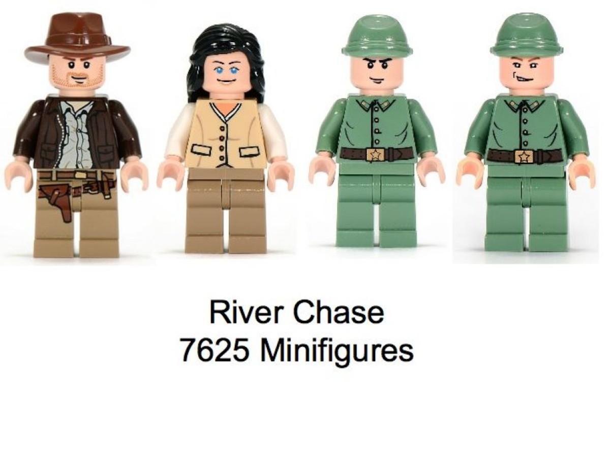 Lego Indiana Jones River Chase 7625 Minifigures