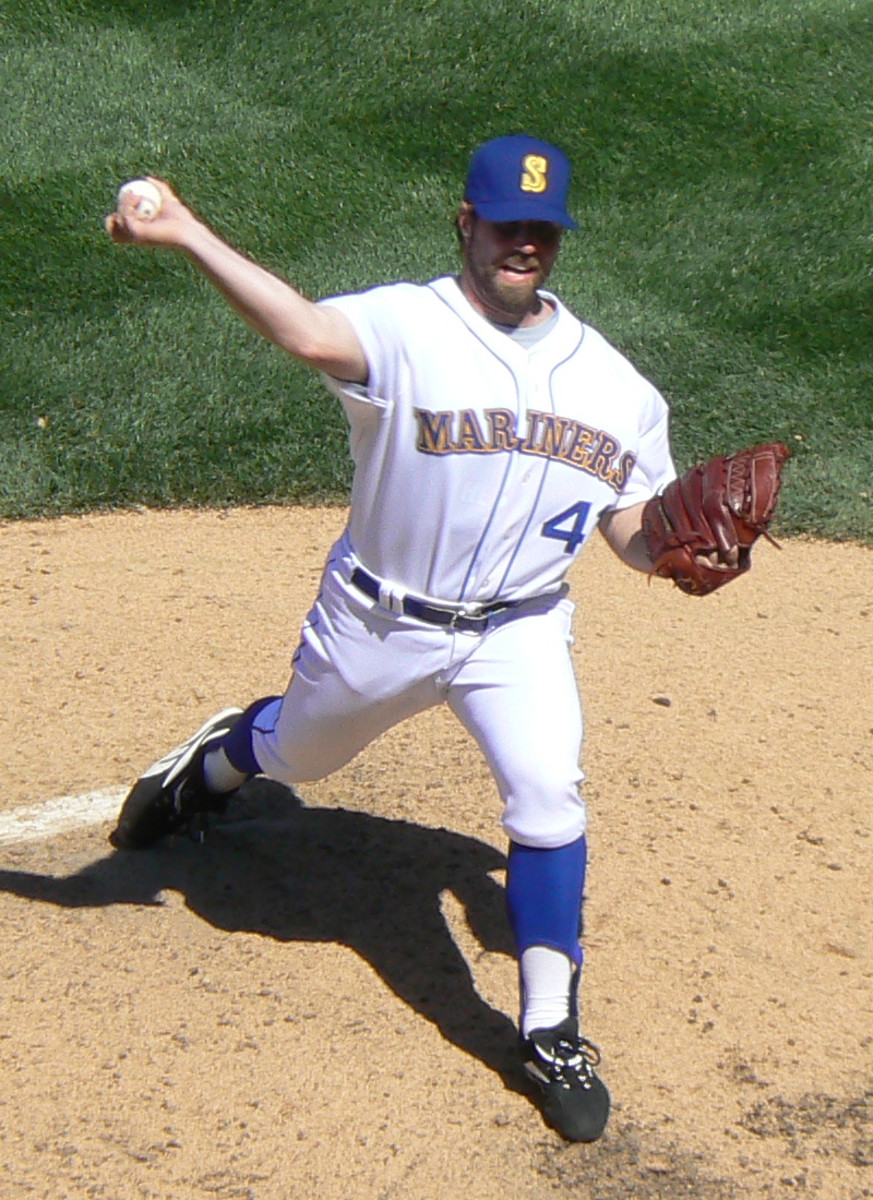 Dickey while with the Seattle Mariners