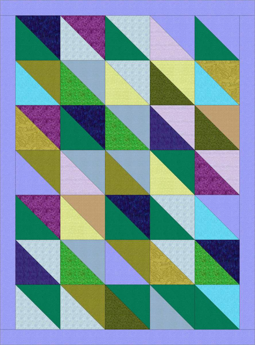 Triangle Rag Quilt Pattern