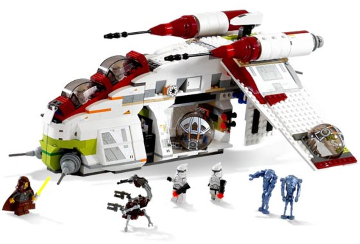 LEGO Star Wars Republic Gunship 7163 Assembled