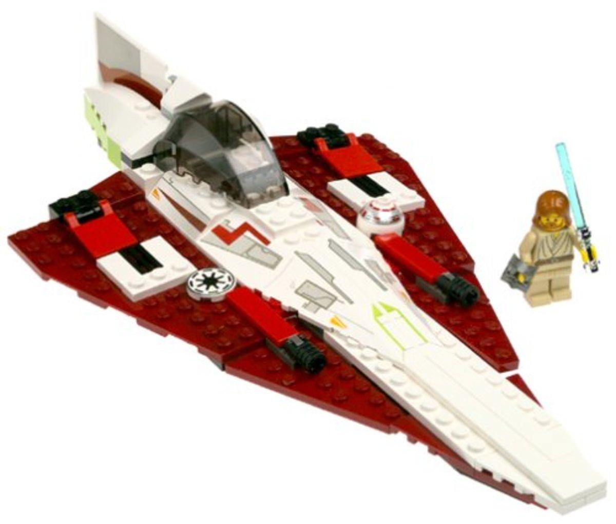 LEGO star wars Jedi Starfighter 7143 Assembled