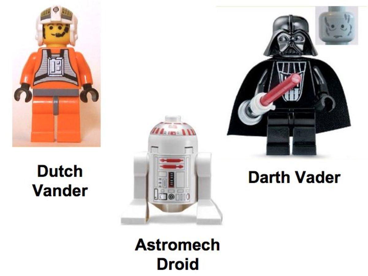 LEGO Star Wars Tie Fighter & Y-Wing 7152 Minifigures