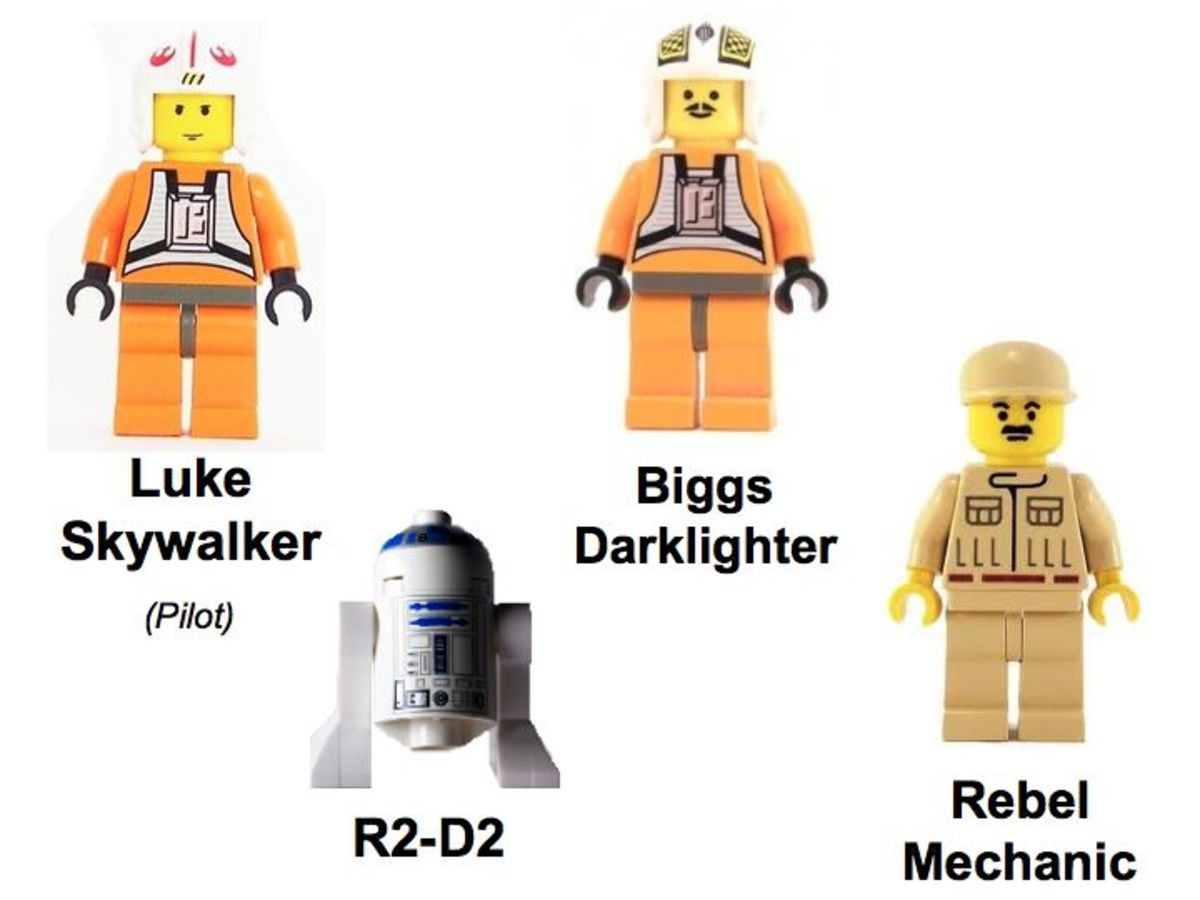 LEGO Star Wars X-Wing Fighter 7142 Minifigures