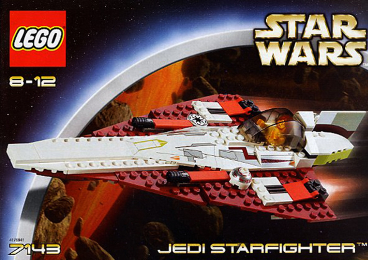LEGO star wars Jedi Starfighter 7143 Box