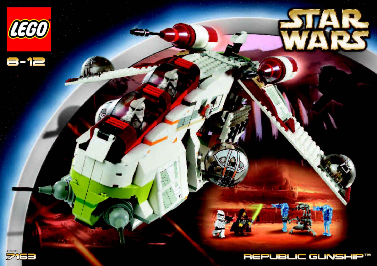 LEGO Star Wars Republic Gunship 7163 Box