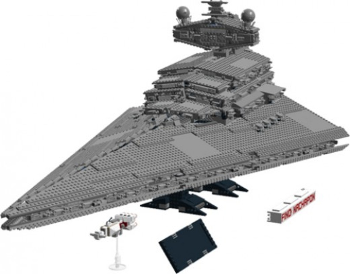 Lego Star Wars Imperial Star Destroyer 10030 Assembled