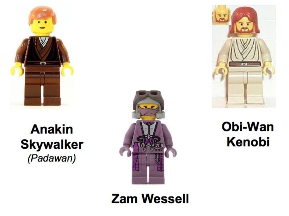 LEGO Star Wars Bounty Hunter Pursuit 7133 Minifigures