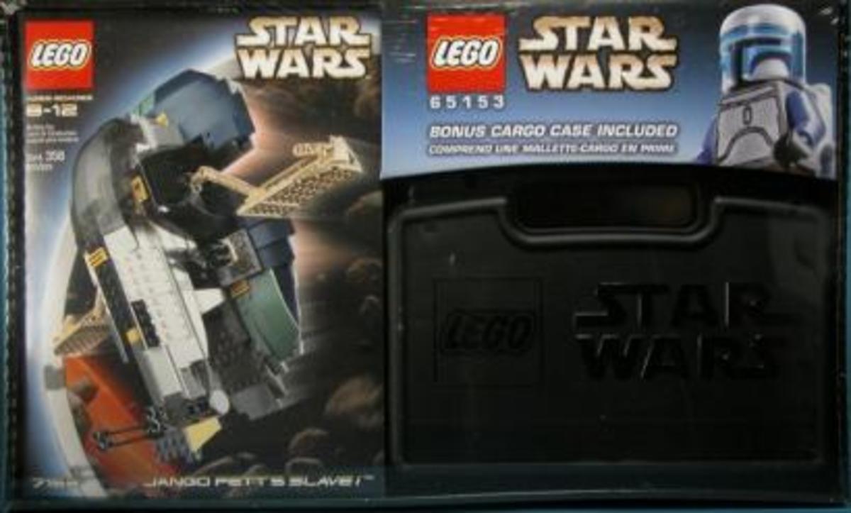LEGO Star Wars Jango Fett Slave I with Cargo Case 65153 Box