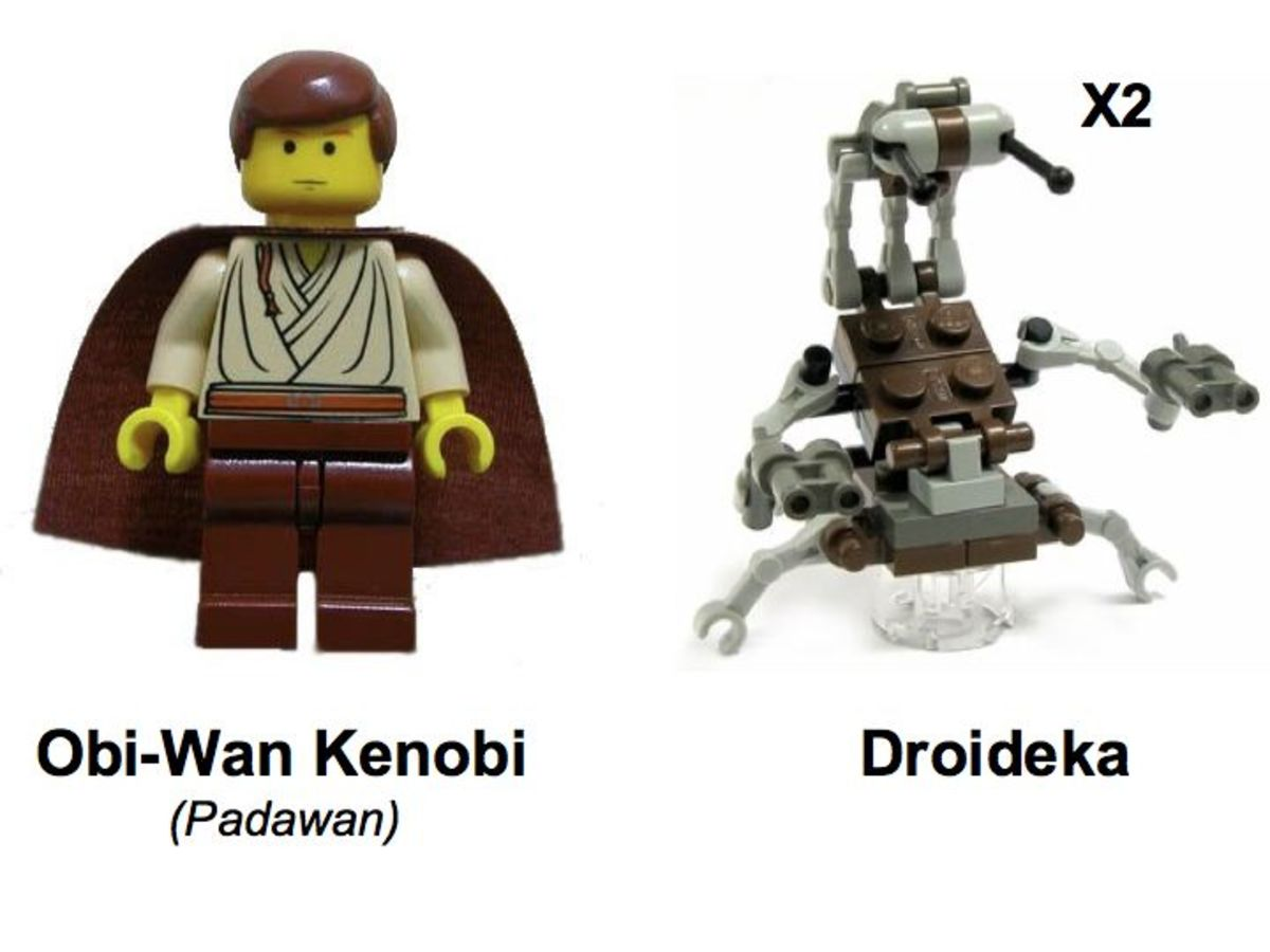 LEGO Star Wars Jedi Defense 1 7203 Minifigures