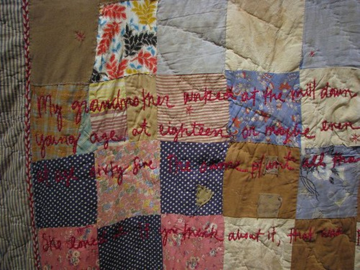 Thread Stories uses fabric that has been for clothing and embroidery.