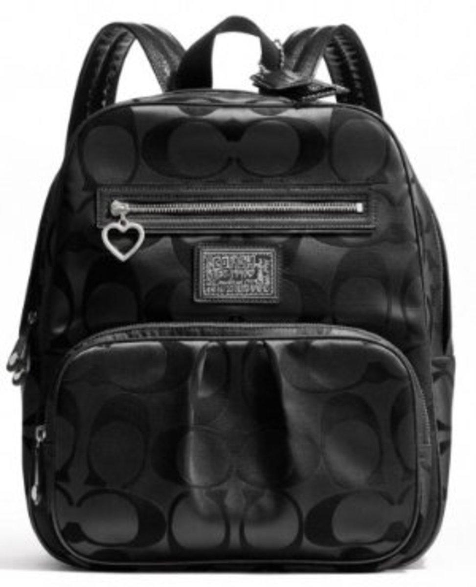 Coach Black Daisy Signature Backpack F20046