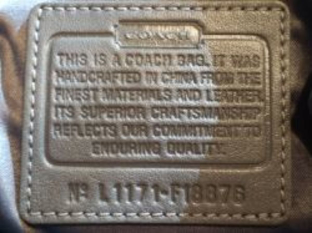 A real Coach authenticity label
