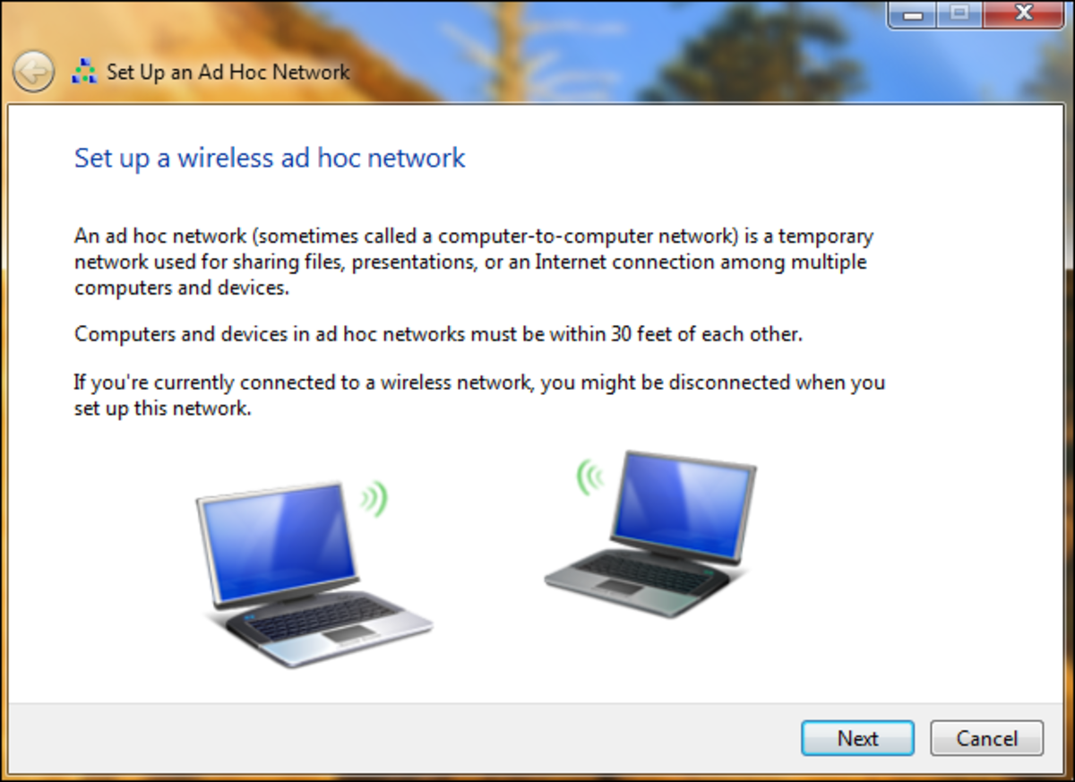 An ad hoc setup can help connect two computers at home