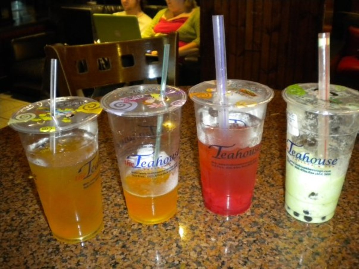 "A milk tea with other types of ""bubble tea""."