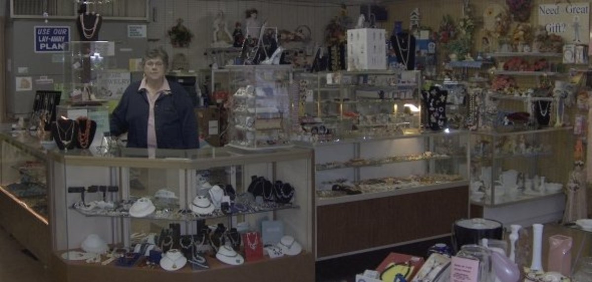 Mom, Vintage Jewelry dealer and co-owner of our little Hubbard Ohio Gift Shop - now called: Diana's Gift Shop