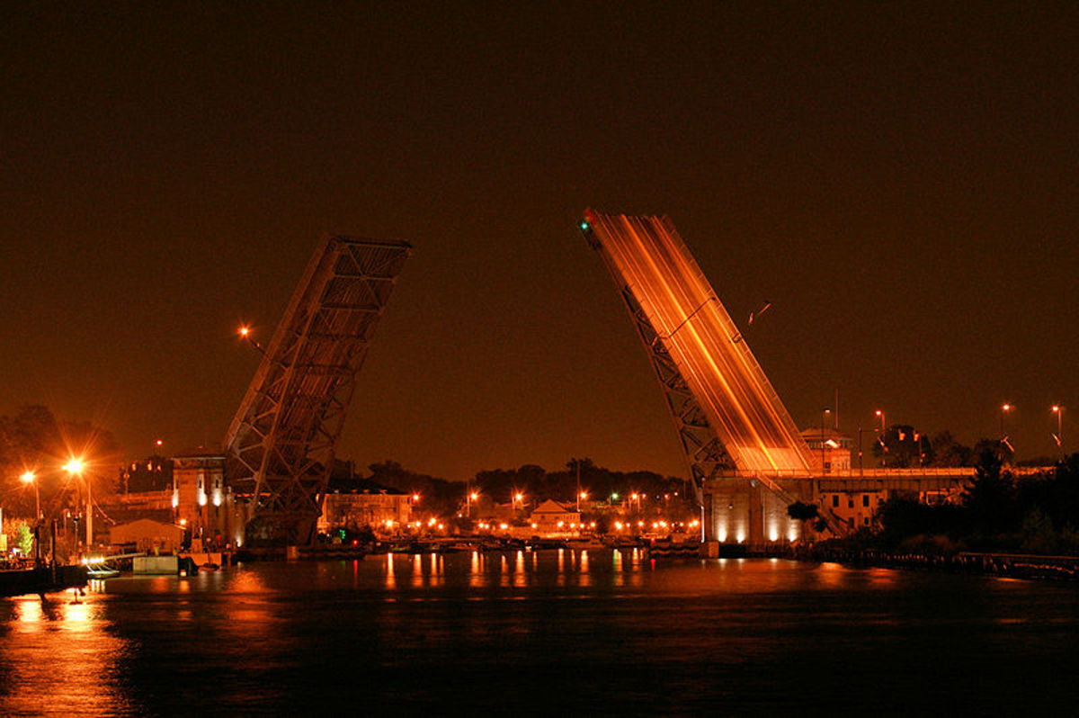 Charles Berry Bascule Bridge at 103 East Erie Avenue, crossing the Black River.