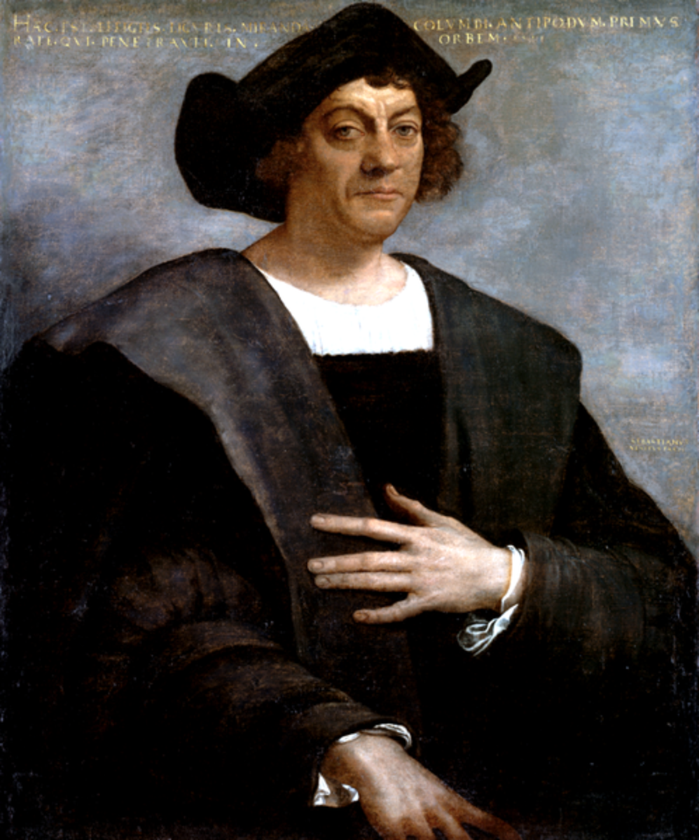 Sebastiano del Piombo  painted this posthumous portrait of Christopher Columbus in 1519. No known portraits of Columbus exist that were painted during his lifetime.