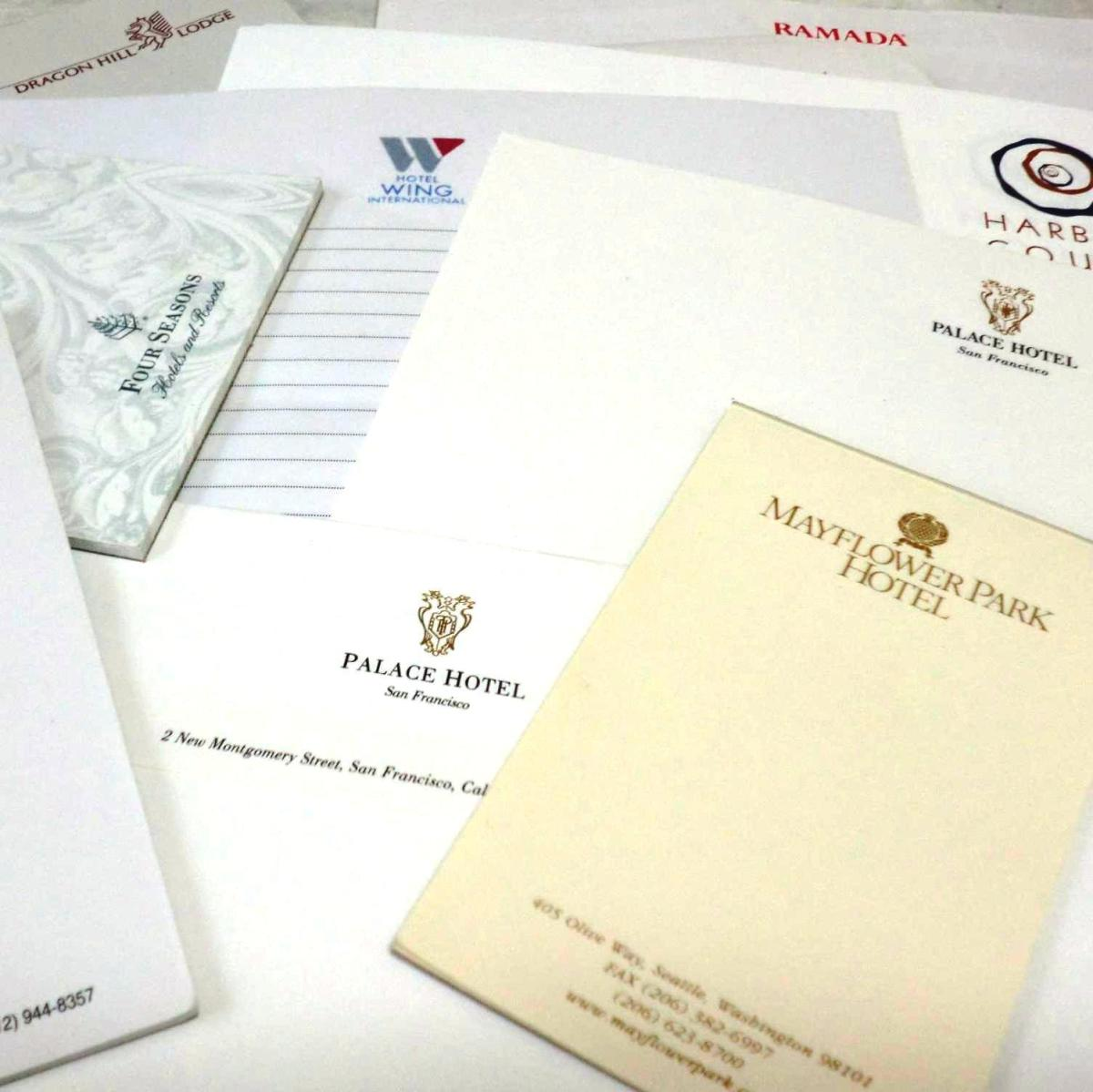 Collect Hotel Stationery From Around the World