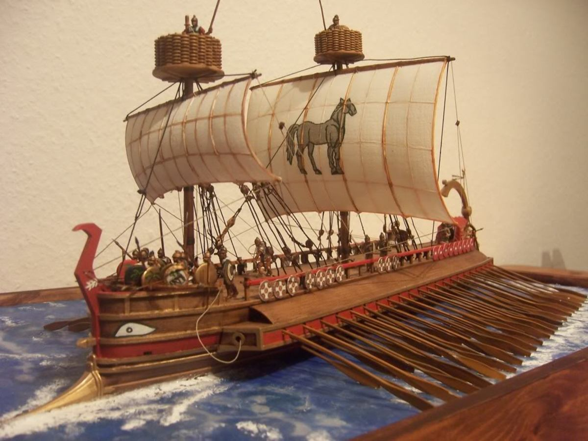 Roman Ships, Warships & Battleships Information For Roman Trireme, Quadrireme, Flagship and Other Fighting Ships
