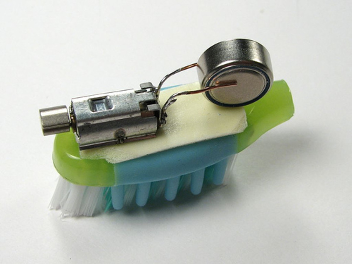 A Bristlebot - A Hacked Toothbrush