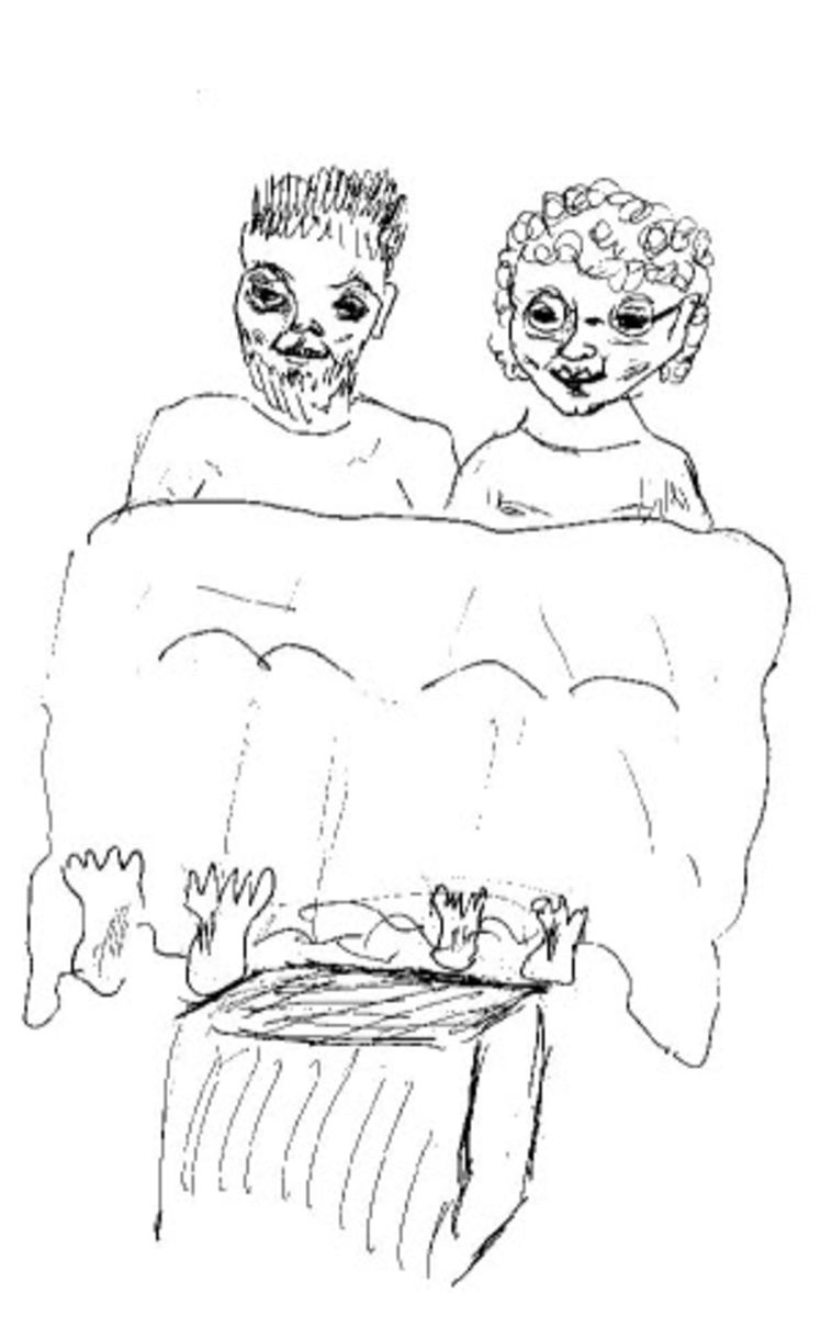 Me and my Significant Other watching TV in bed