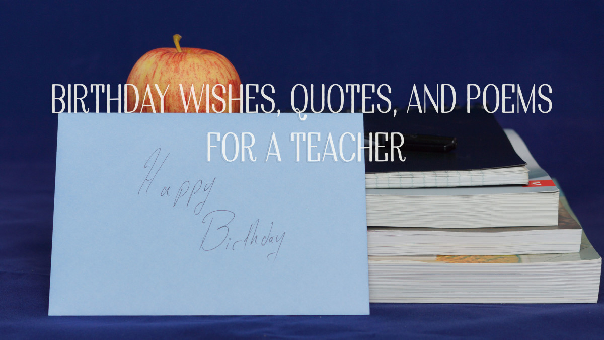 Birthday wishes to write on a card for your teacher.