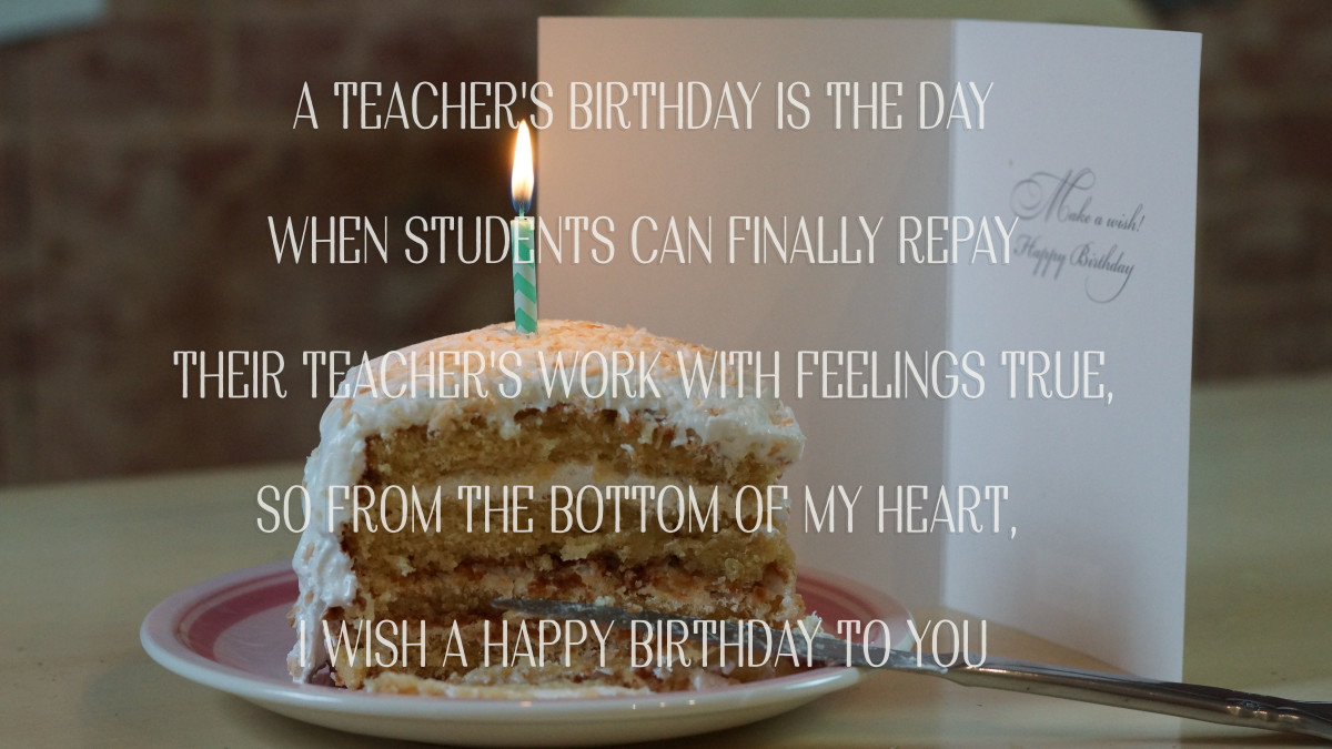 Wish your teacher a happy birthday with a poem.