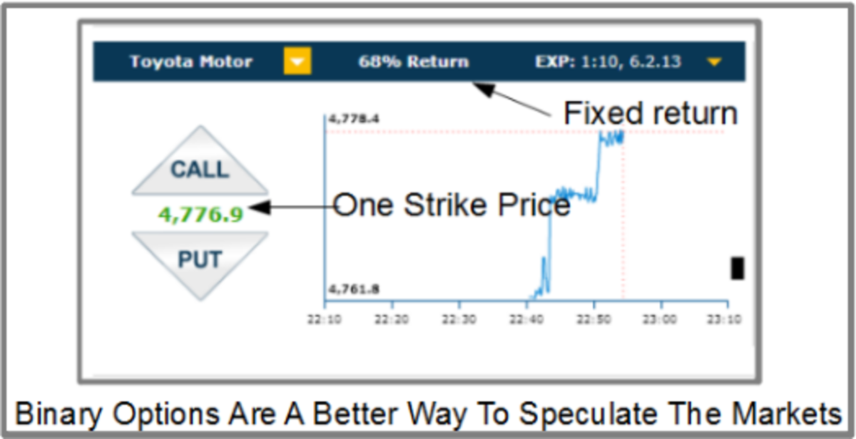 High/low binary options have only one strike price, the current price of the option.