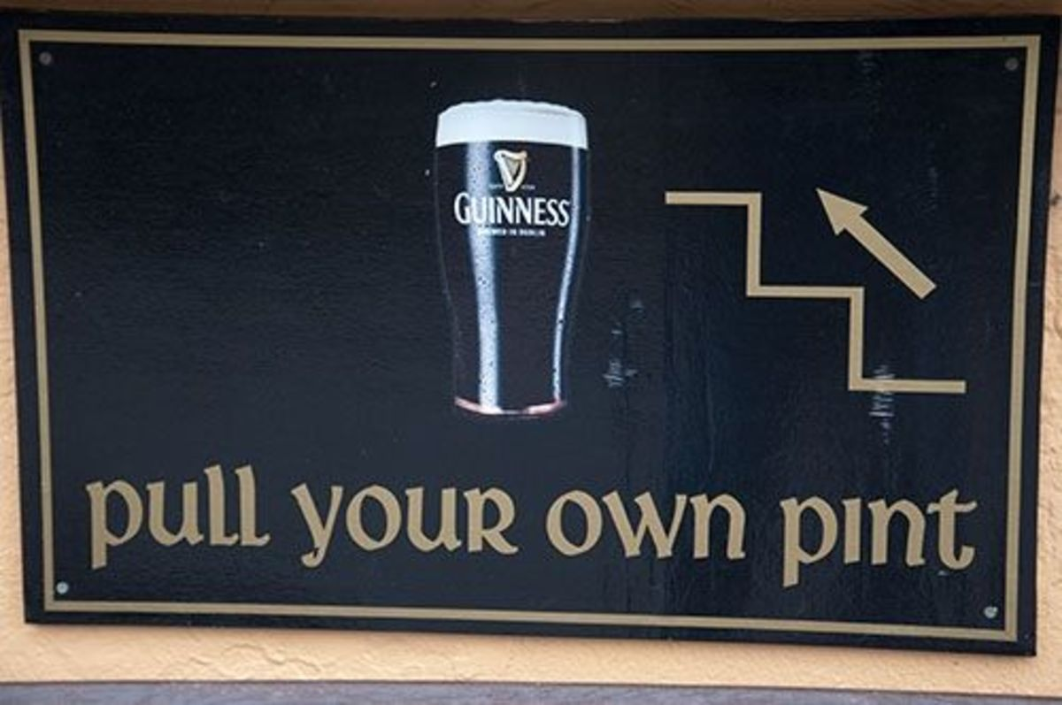 Yes' you can pull your own pint of Guinness.