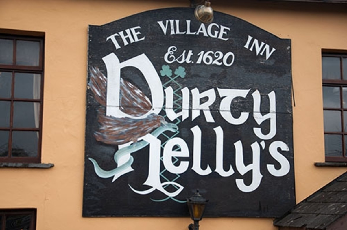 Durty Nelly's pub where you'll get a great seafood chowder and pint of Guinness.