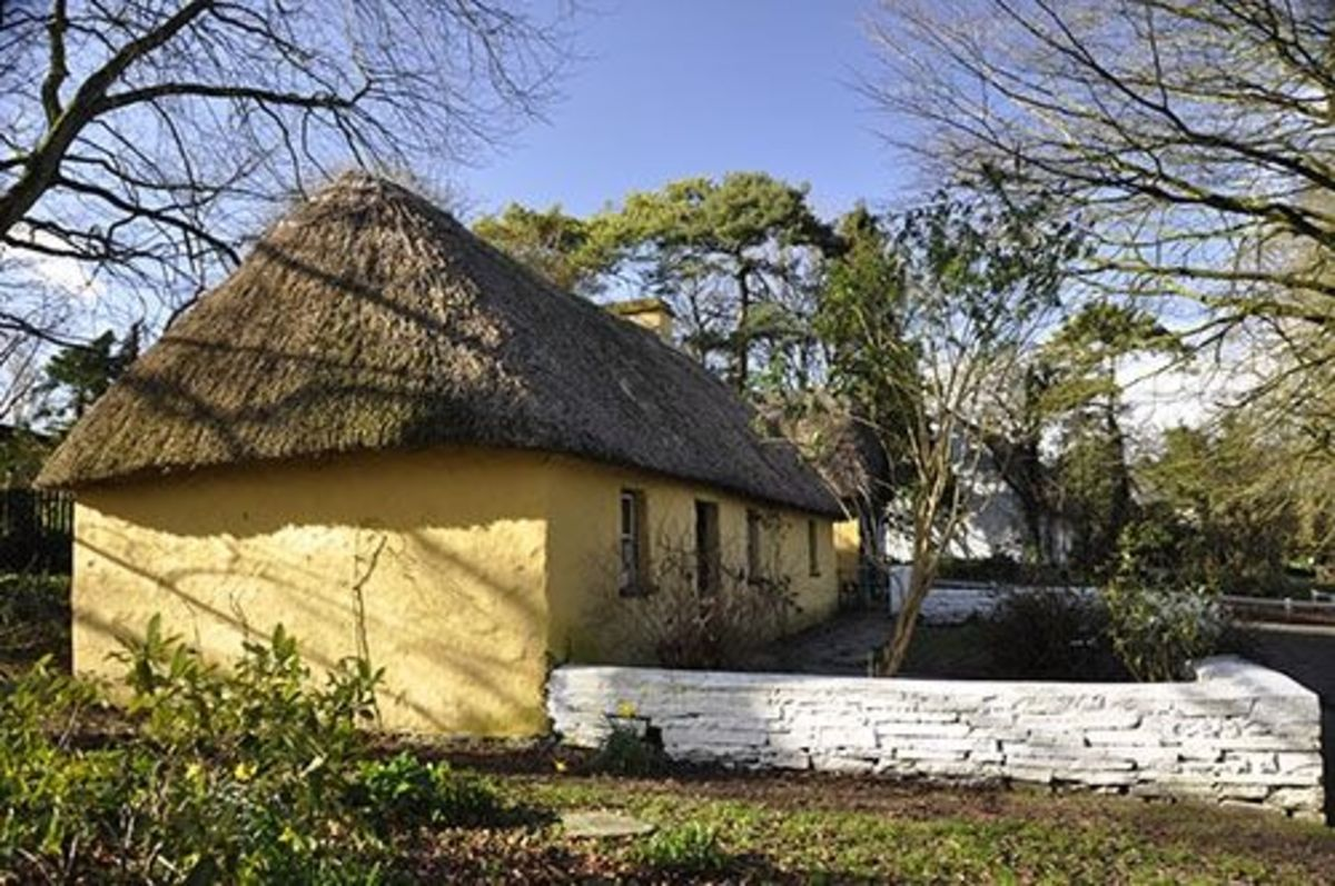 There are several cottages of different sizes designated to different classes of people.