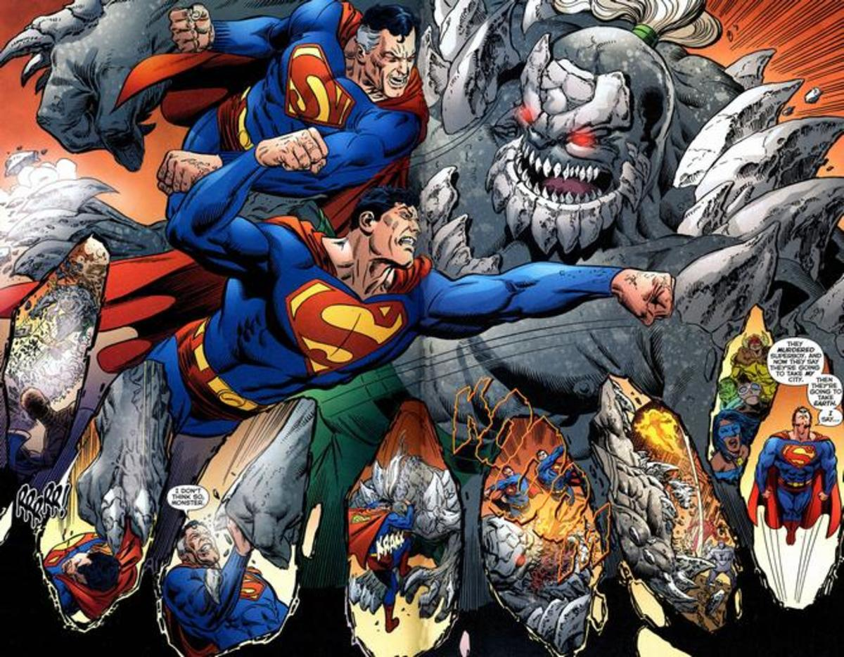 Supermen vs Doomsday Infinite Crisis help - two gods against one.
