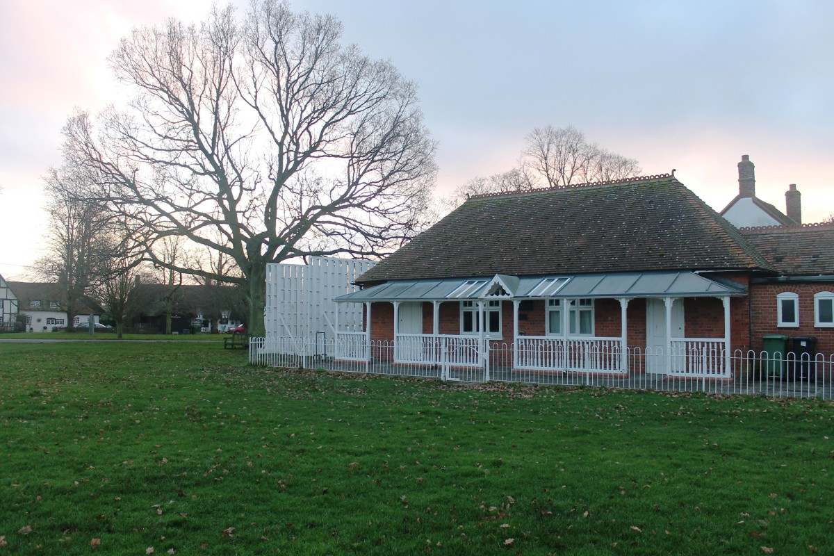 The cricket clubhouse, Warborough, Oxfordshire, England