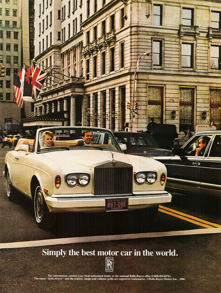 Rolls Royce works hard to promote its brand as a luxury car.