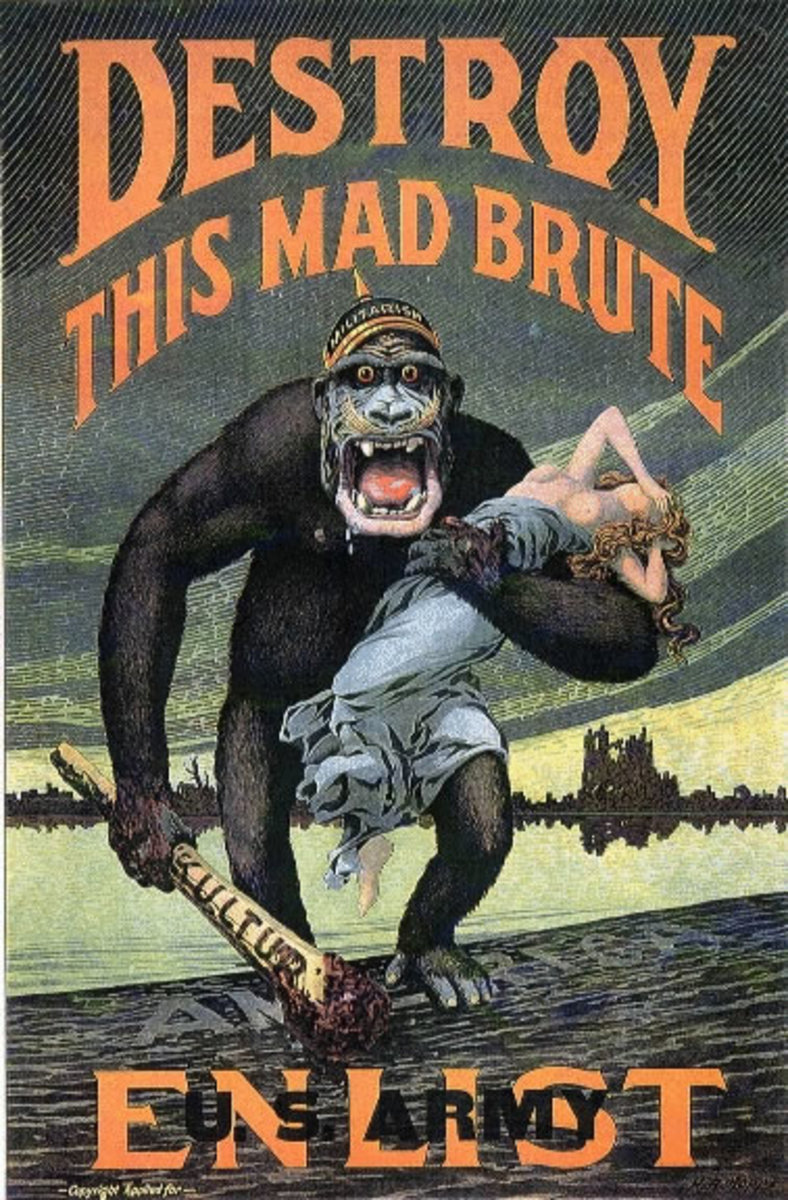 World War I propaganda poster.