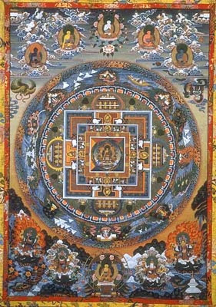 Mandala is powerful ritual object in Tibetan Buddhism