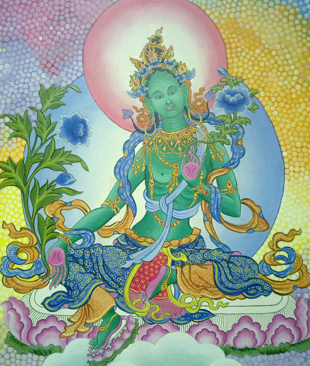 Nepali Princess Bhrikuti was the first person to preach Buddhism in Tibet. Bhrikuti is worshiped as Green Tara