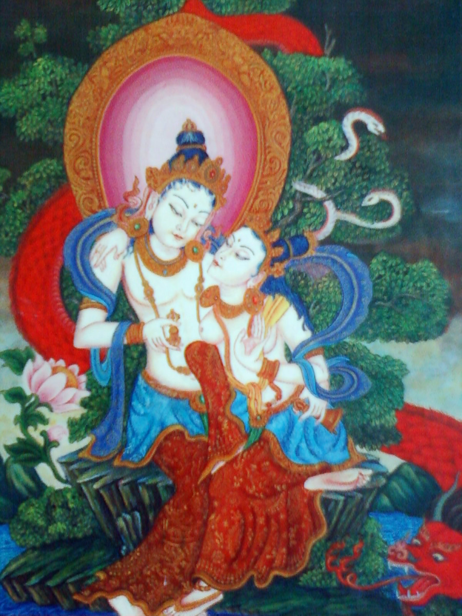 Vajradhar- Shakti: The Tibetan Buddhism deities