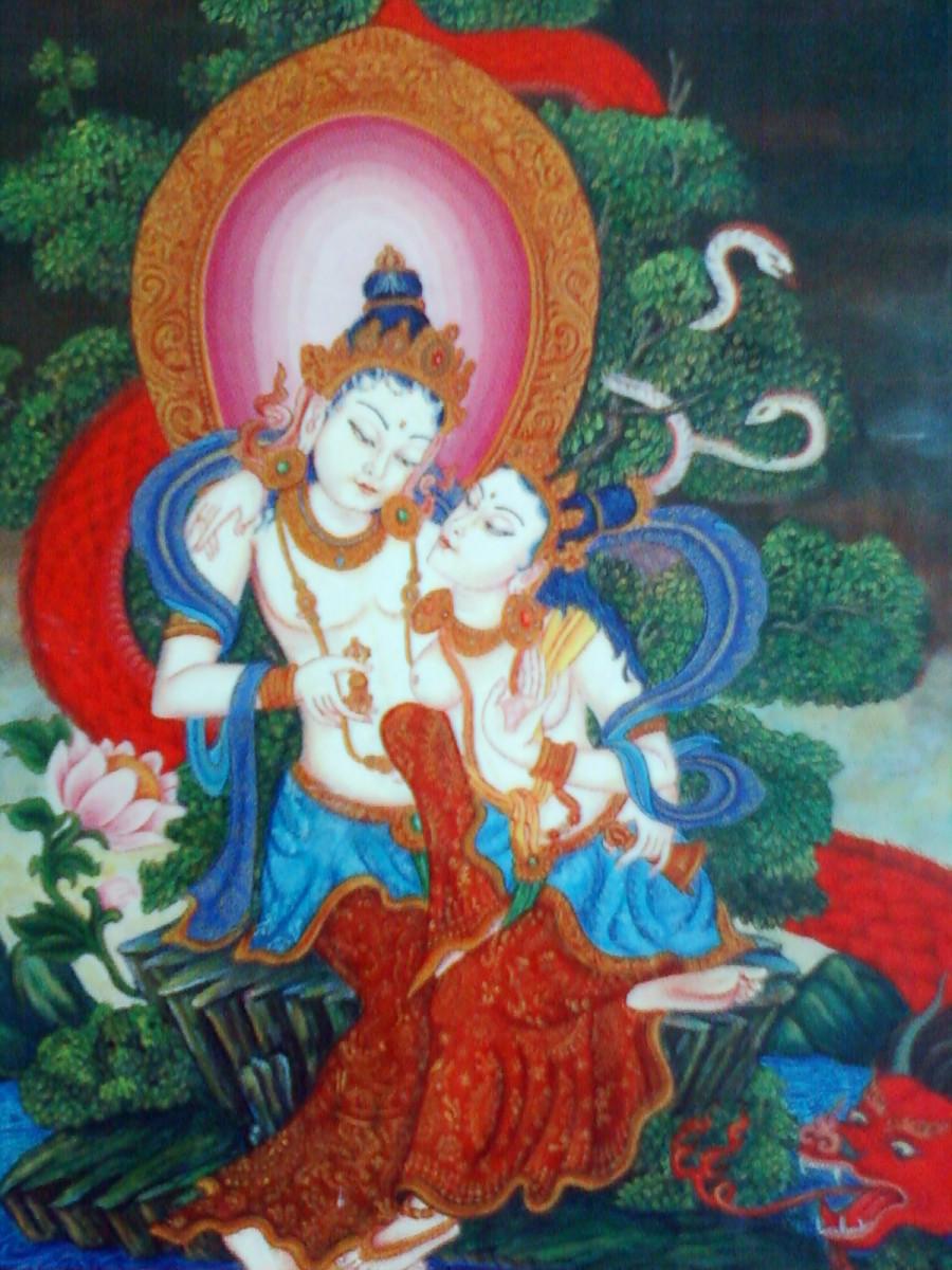 Vajradhar- Shakti: The Tibetan Buddhism deities