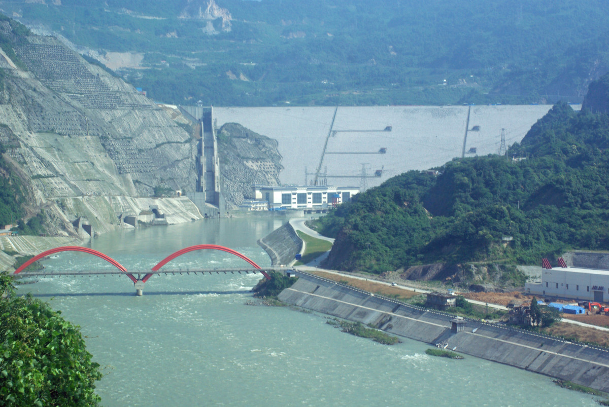 Zipingpu Dam North of Dujiangyan
