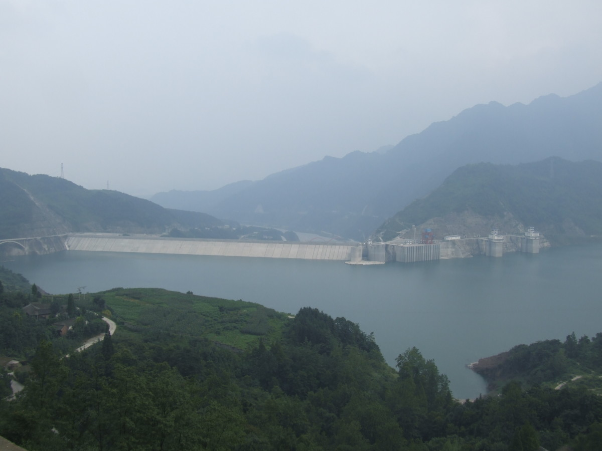 The Zipingpu Dam near Dujiangyan