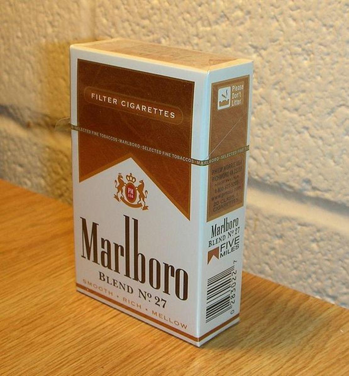 Ahhh, Marlboro taste... don't even ask if it was menthol or regular, I have no idea!