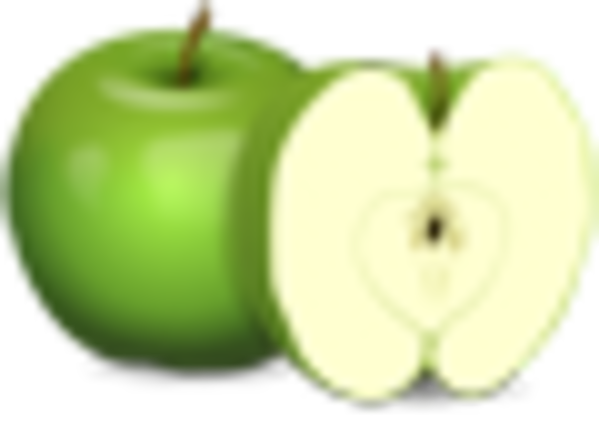 An Apple Sprite, that will be used in the game we're making
