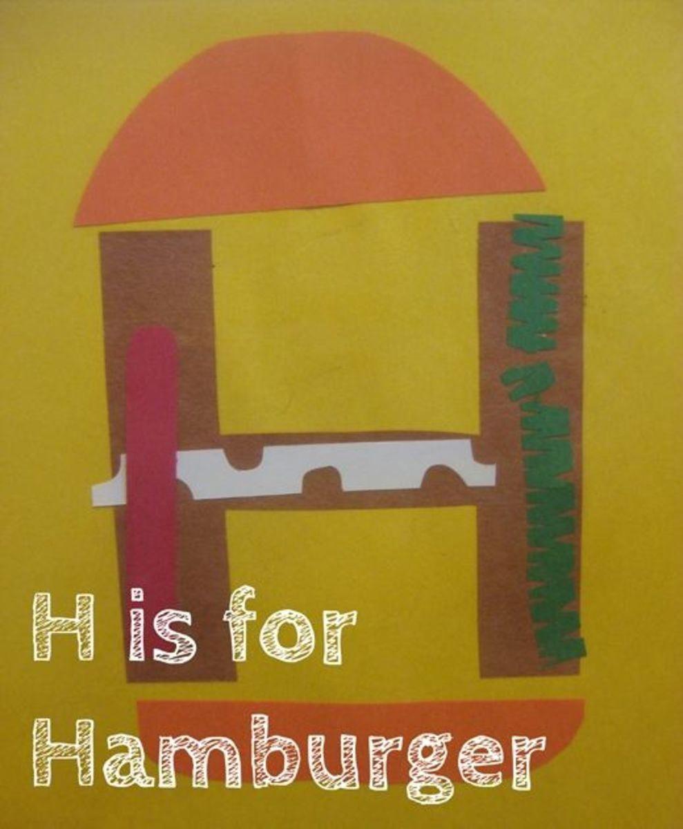 h is for hamburger alphabet activities for kids