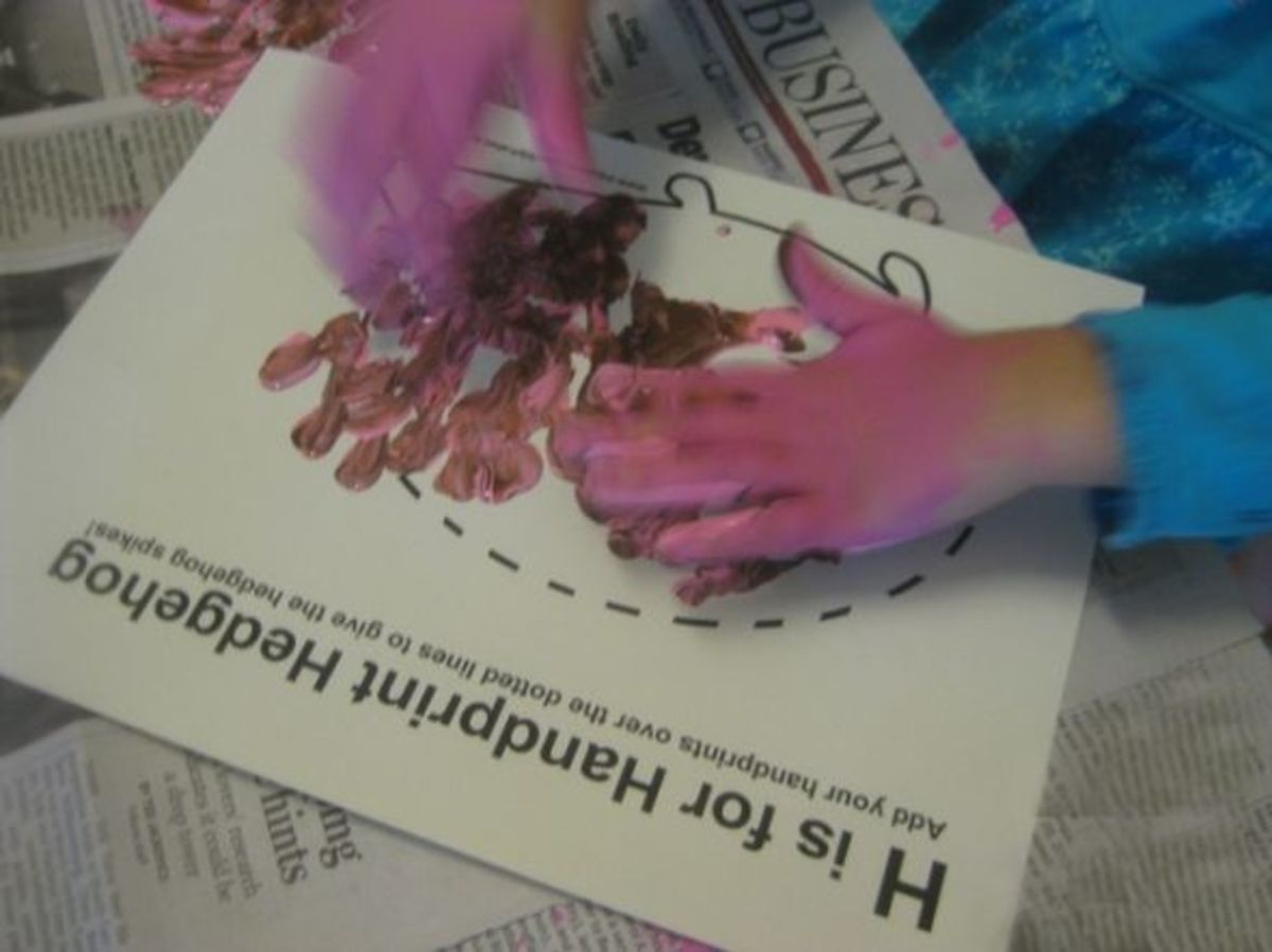 h is for hedgehog handprints alphabet activities for kids