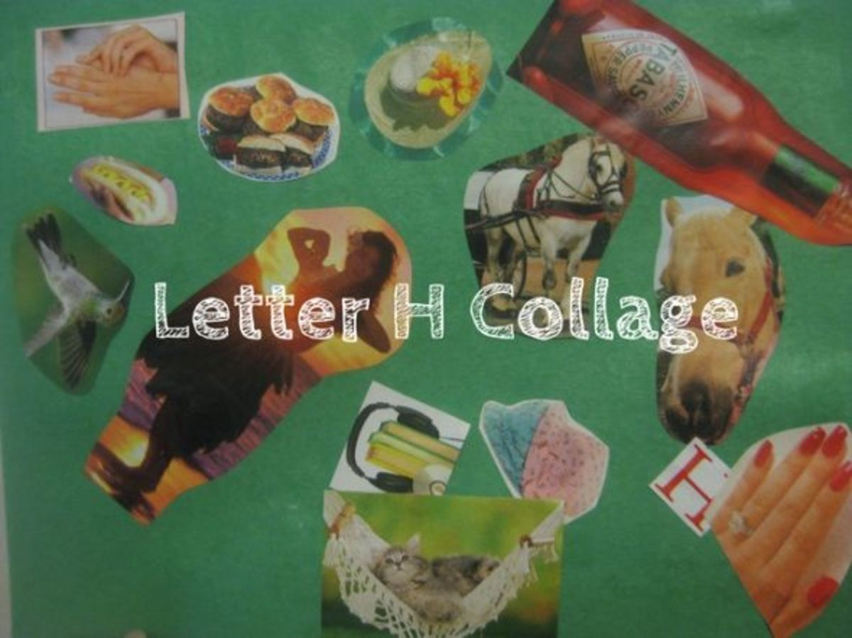 letter h collage alphabet activities for kids