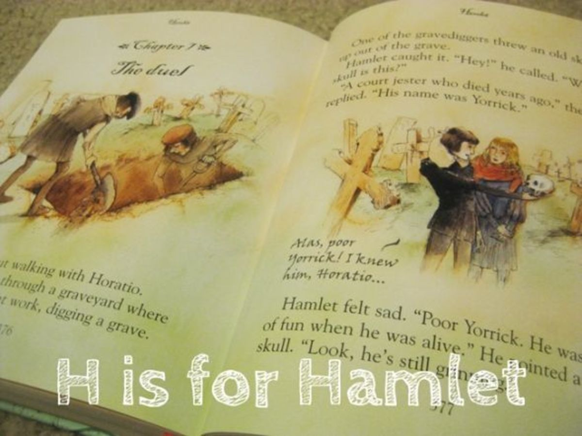 h is for hamlet alphabet activities for kids