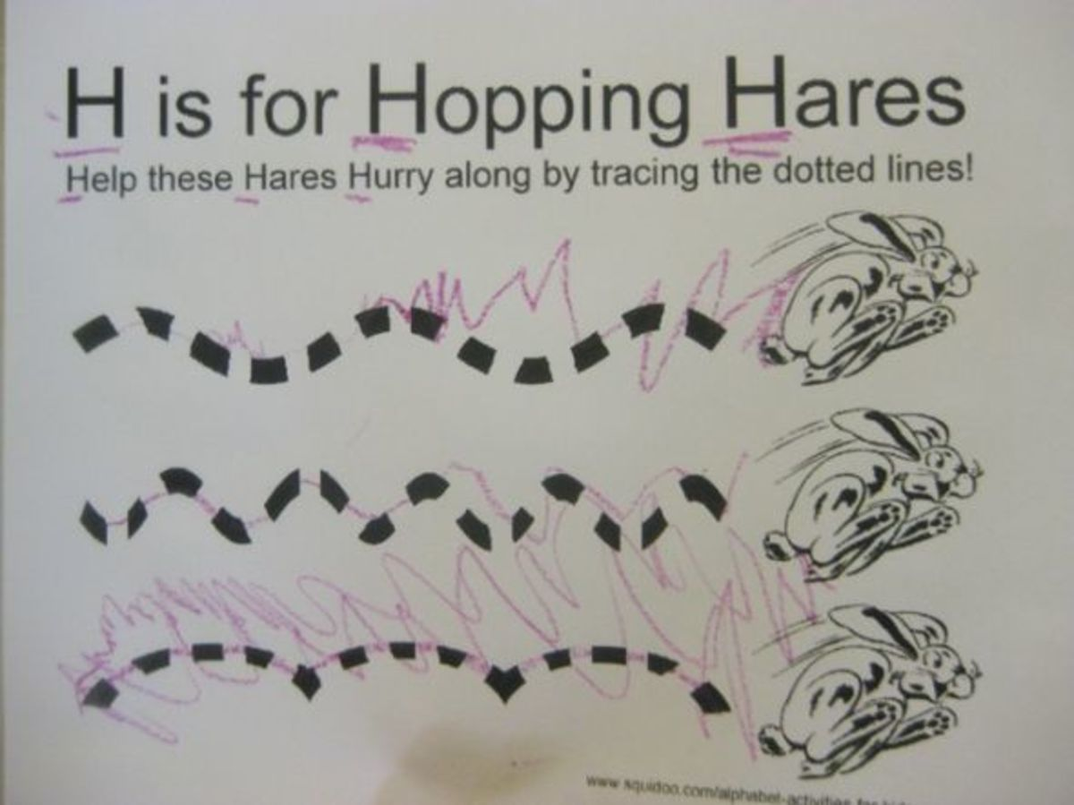 h is for hopping hares