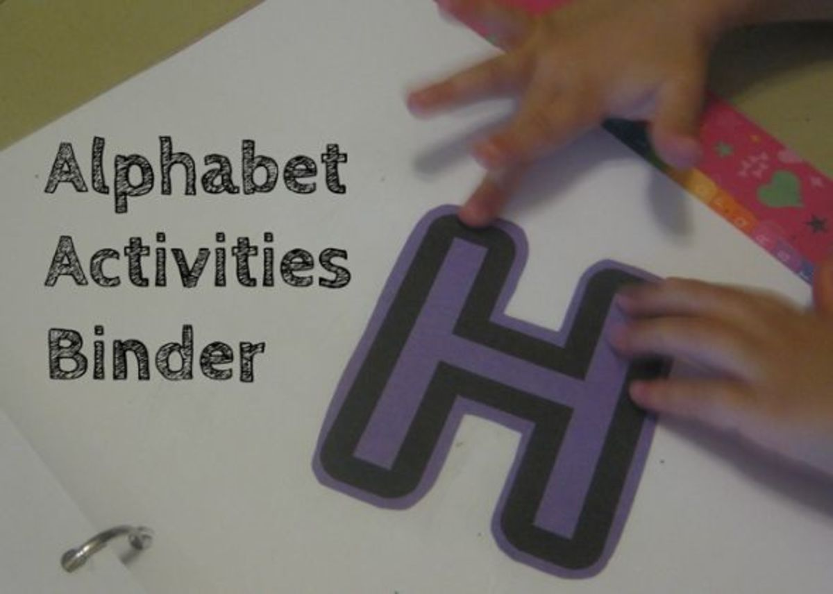 letter h alphabet activities binder