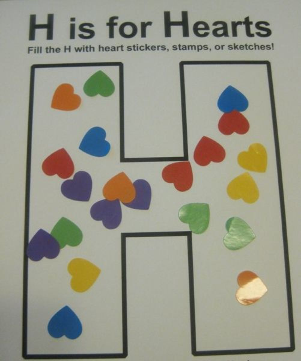 h is for hearts alphabet activities for kids